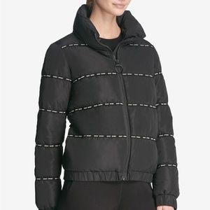 DKNY Sport Black Puffer Jacket, Medium